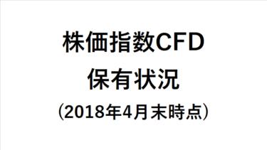 マネースクウェア株価指数CFD保有状況を公開(2018年4月末時点)